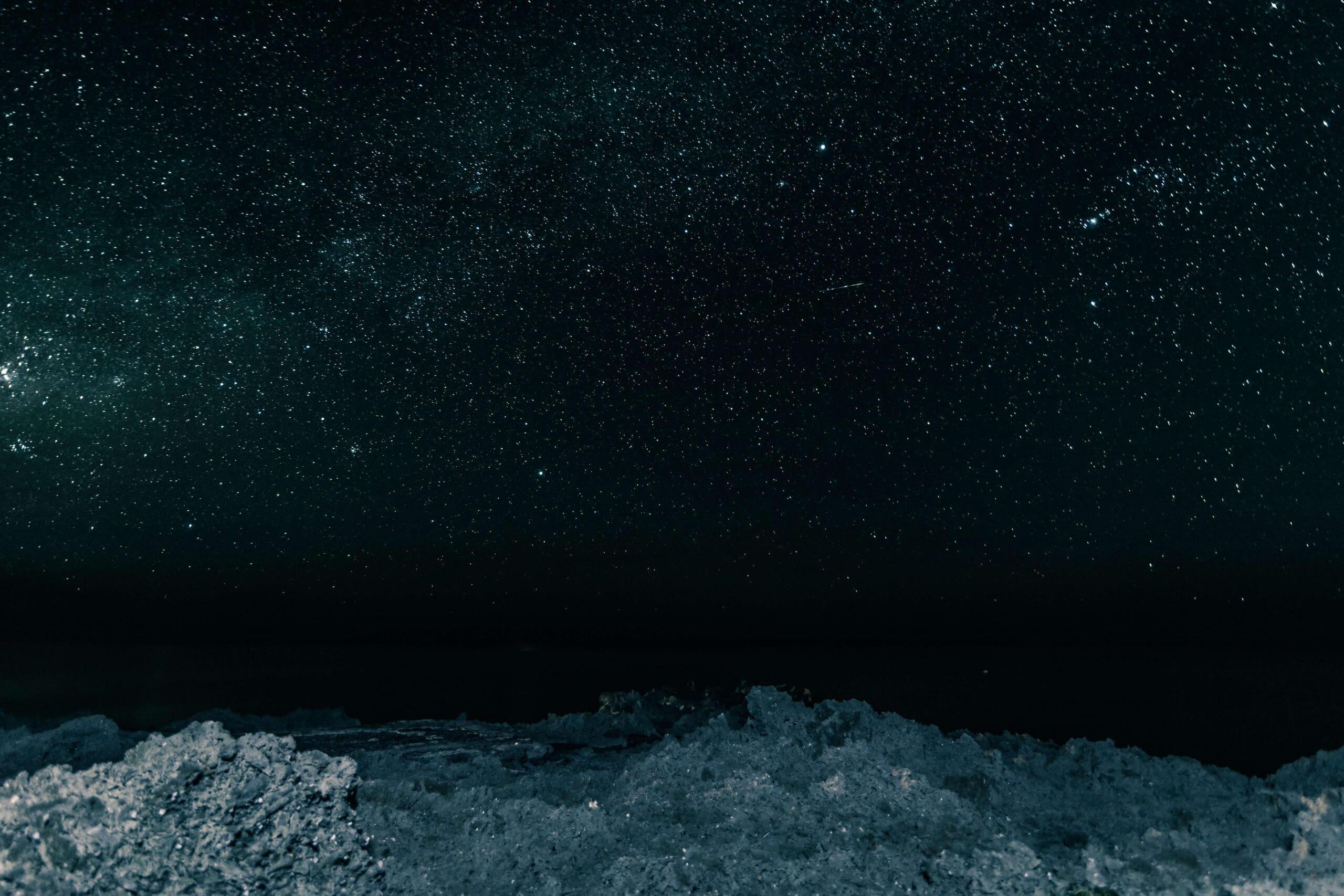 fotografía nocturna estrellas